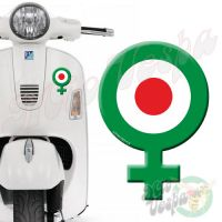 Female Symbol Green Red Target 3D Decal for all Vespa models Front or Side