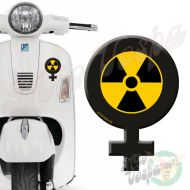 Female Symbol RadioActive 3D Decal for all Vespa models Front or Side