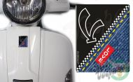 Front Badge Overlay Love Denim with V on black 3D Decal for various Vespa models