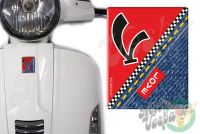 Front Badge Overlay Love Denim with V on Red 3D Decal for various Vespa models