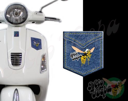 Front Pocket Love Denim with Mio Vespa wasp 3D Decal for all Vespa models