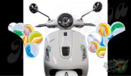 Front Marbles Set Left and Right Turn Signal Extensions 3D Decals for Vespa  GTS GTV 250 300 models