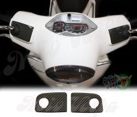 Carbon Fiber Look Handlebar pump covers overlay Left and Right 3D Decals for various Vespa GTS models