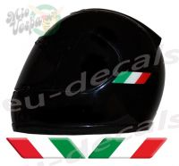 Helmet Italy Italian Flags 3D Decals Set Left and Right