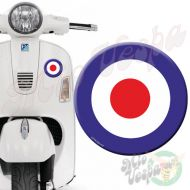 Blue Red Target 3D Decal for all Vespa models Front or Side