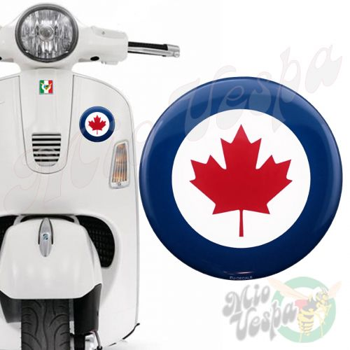 Canadian Air Force Target 3D Decal for all Vespa models Front or Side Mod