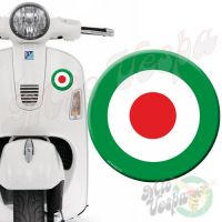 Green Red Target 3D Decal for all Vespa models Front or Side