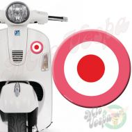 Pink Red Target 3D Decal for all Vespa models Front or Side