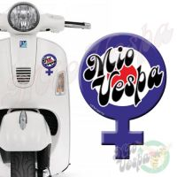 Mio Vespa Female Symbol Blue Red Target 3D Decal for all Vespa models Front or Side