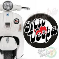 Mio Vepa Black Red Target 3D Decal for all Vespa models Front or Side