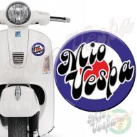 Mio Vepa Blue Red Target 3D Decal for all Vespa models Front or Side