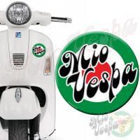 Mio Vepa Green Red Target 3D Decal for all Vespa models Front or Side