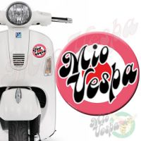 Mio Vepa Pink Red Target 3D Decal for all Vespa models Front or Side