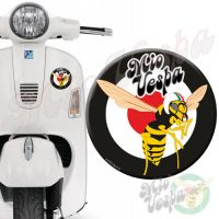 Mio Vepa Wasp Black Red Target 3D Decal for all Vespa models Front or Side