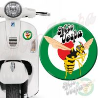 Mio Vepa Wasp Green Red Target 3D Decal for all Vespa models Front or Side