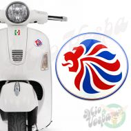 Team GB Olympics Lion Oval 3D Decal for all Vespa models Front or Side Mod